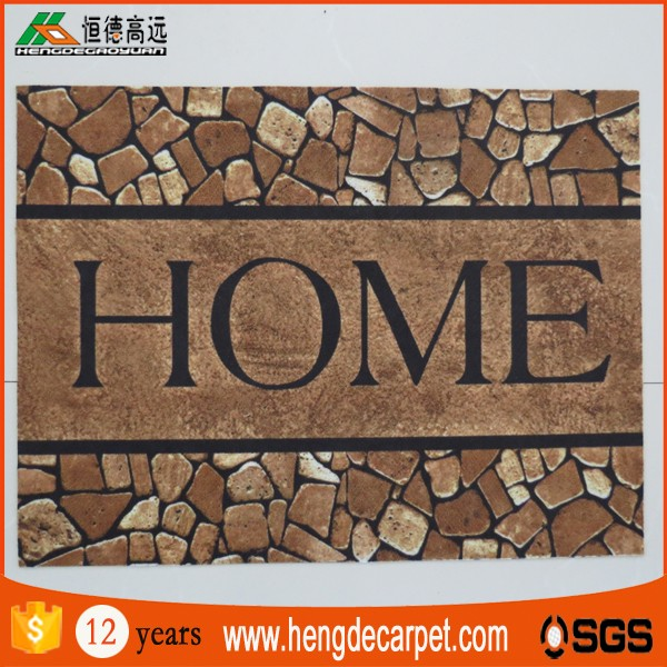 fashion design cheap comfortable printed doormat for room