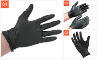 Household Gloves Disposable Black Plastic Gloves Latex Gloves