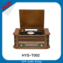 Turntable Phonograph Compact Disc Cd Cassette Record Player With Gramophone New Arrival