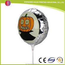 Good after-sale service round foil balloon with stick for Marketing