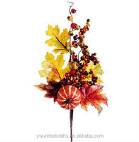 "16"" Artificial Large Pumpkin & Berry Stem Pick -Fall"