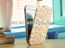 LEATHER COVER CASE For Samsung S3 Wild ANIMAL DECORATIVE DESIGN LEOPARD