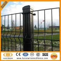 Steel Hebei China professioanl curved garden metal fence/pvc coated 1x1 wire mesh fencing