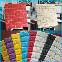 Colorful PE foam 3D design non-toxic wallpaper2016