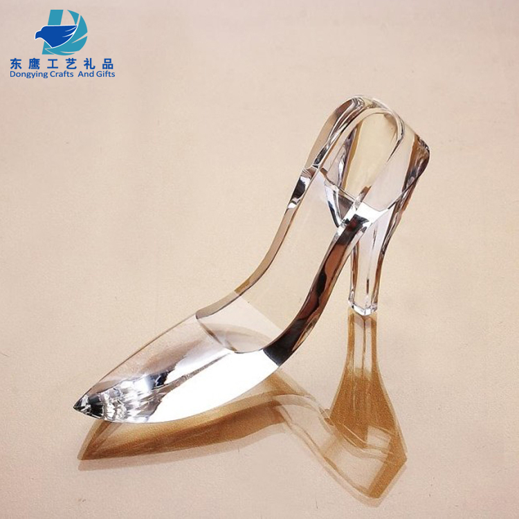 Factory Selling Color Crystal Shoes Gift Crystal Wedding Gift Crystal Souvenir For wedding