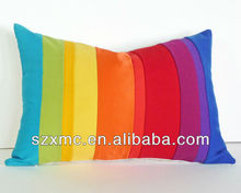100%cotton micro beads filling full color design custom rainbow cushion cover