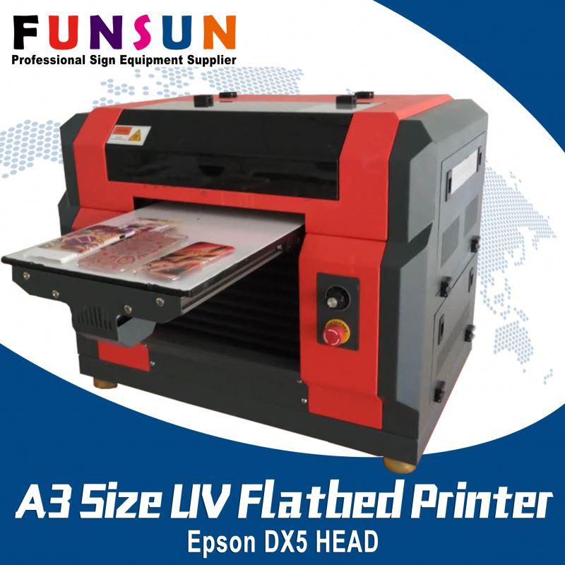 Funsunjet A3 Size DX5 Head brother printer mobile covers UV printer
