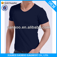 Men Bulk Mens Wholesale Deep V-Neck Cheap Plain 3D Design T Shirts