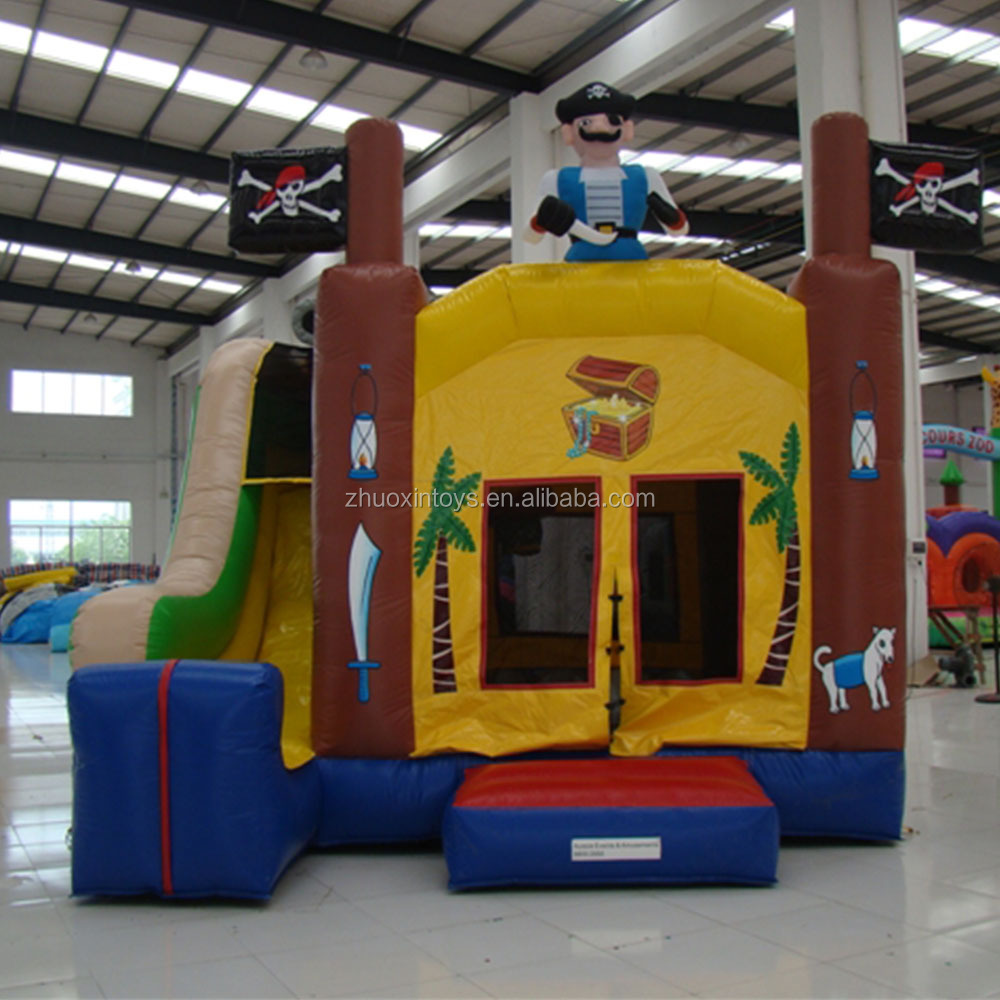 Pirate Boucy Castle Combo Jumping Castle with slide