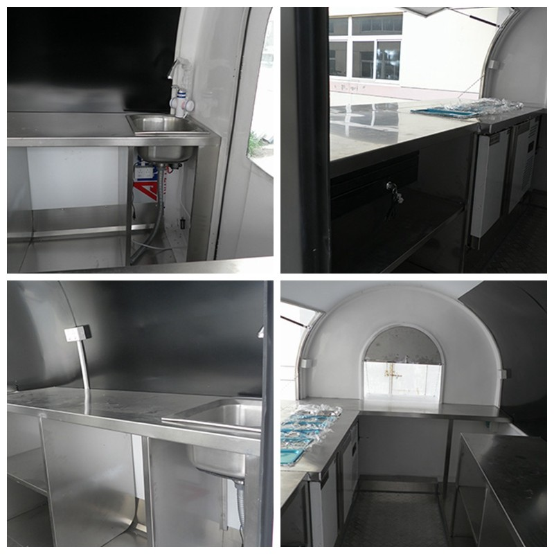 New crepe arrival street fast food trucks mobile kitchen trailer