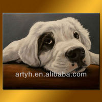 Dog Decor Painting For Living Room