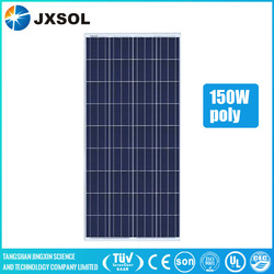 Cheap price solar system China factory 150w poly pv solar panel for India market