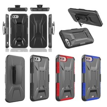 Heavy Duty X Armor Hybrid Holster Belt Clip Shockproof Hard Case For Iphone 7 Plus