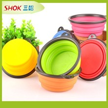 novelty silicon folding pet bowl