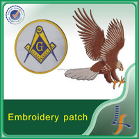 Custom made embroidery patch, Iron on patches, masonic fabric