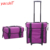 Yaeshii Professional 2-in-1 nylon Soft-sided Professional Rolling trolley makeup train case with drawer Organizer Storage Bag