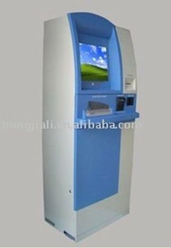 cash register kiosk/free-standing kiosk/with boarcode scanner and pin pad self-service kiosk