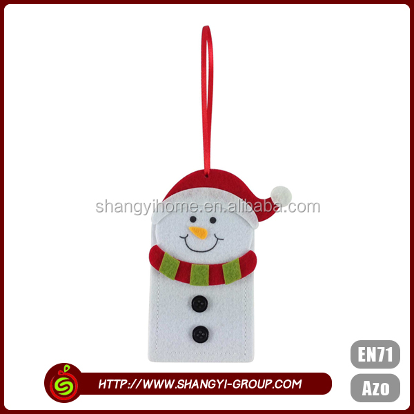 Snow man pattern christmas lovely design polyester material atm card cover