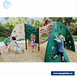 JT16-11202Best safety kids outdoor games equipment plastic climbing wall climbers