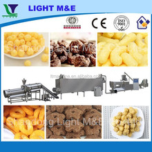 CE Crispy Stainless Steel Double Screw Corn Flour Snack Extruding Equipment