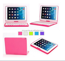 360 degree rotating bluetooth keyboard cases like laptop pink color For ipad6 ipad air2