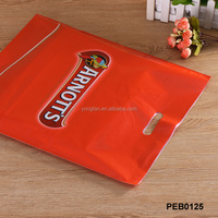 Colorful Perforated T-Shirt Plastic Bag For Market Shopping