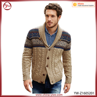 New arrival latest design khaki men woolen sweater design