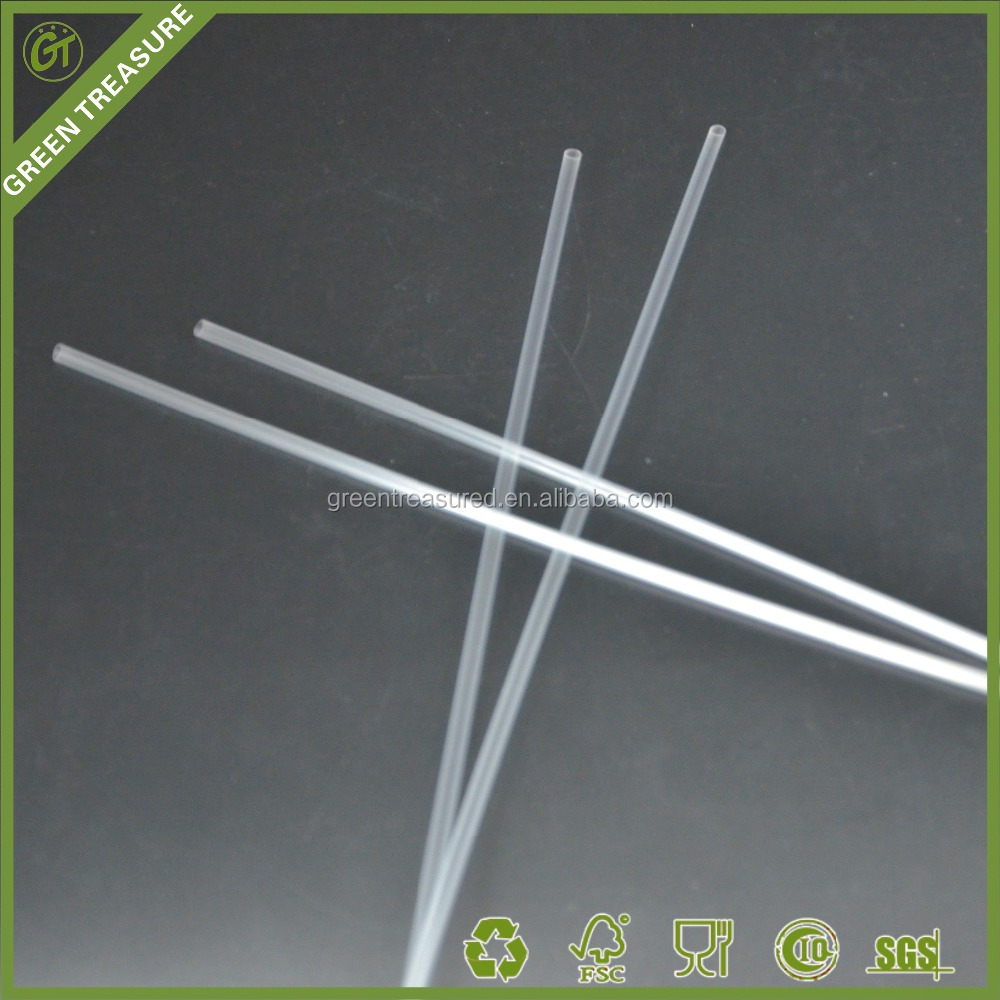 2016 Transparent Free Kids Safety 160mm Biodegradable PLA Plastic Straw