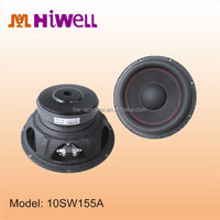 Big Rubber Surround age car sub woofer 10 and 12 inch