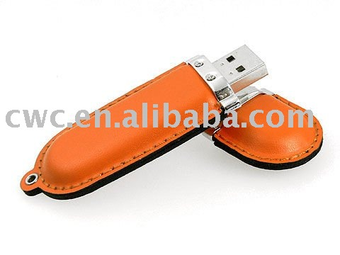 Leather usb flash driver