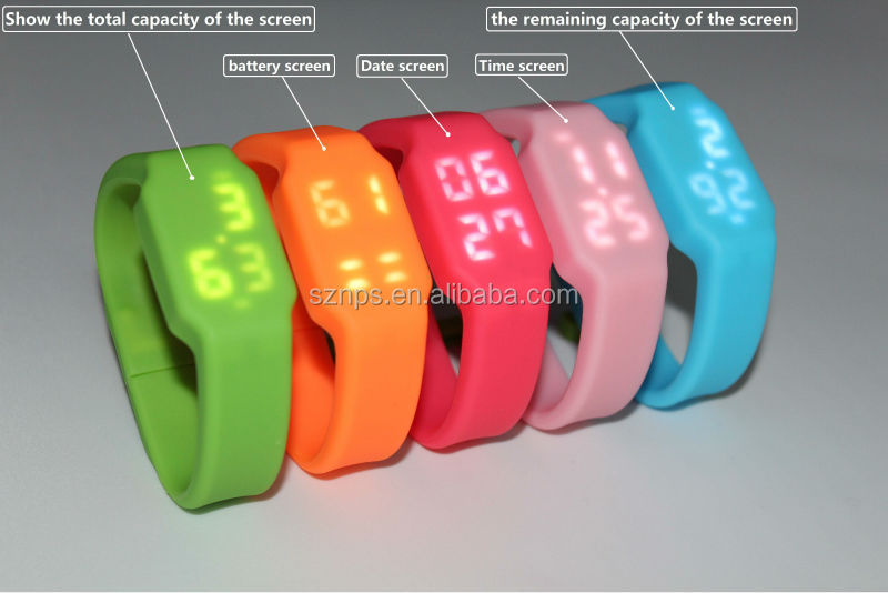 New style for colorful 4gb/8gb/16gb led watch usb flash drive