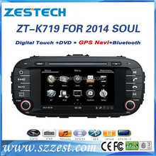 ZESTECH Auto parts 7'' 2 din Car radio gps for KIA SOUL 2014 with GPS/Bluetooth/Radio AM FM/Steering wheel control
