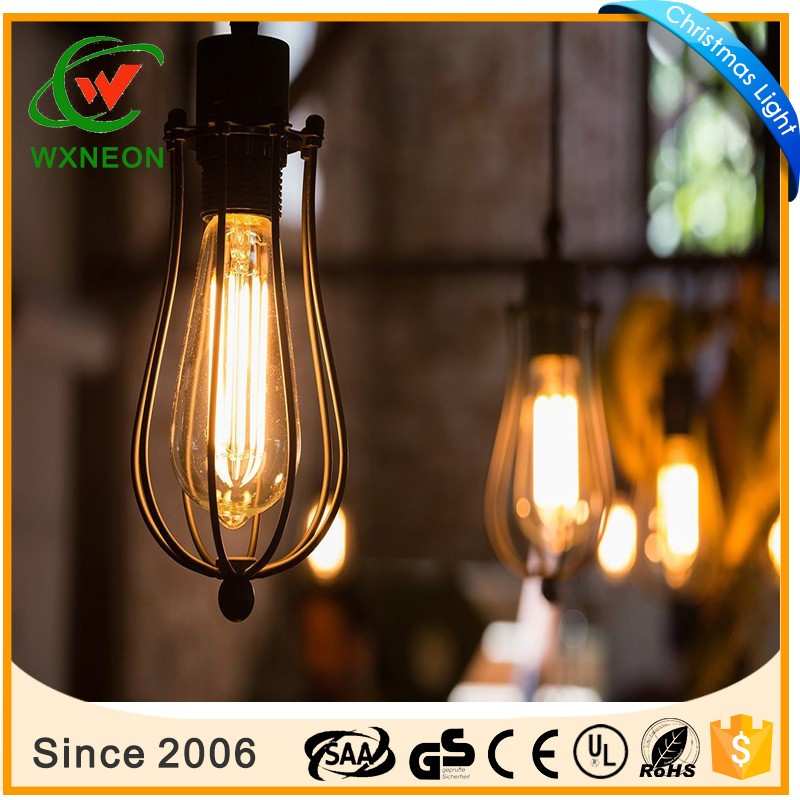 60W ST64 Dimmable Edison Incandescent Vintage Light Glass Lamp Bulb 2200K Warm White - 6 Packs