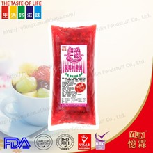 FDA,HACCP,ISO Certification1.2kg bag packed strawberrey flavor fruit Jam