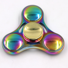 2017 walmart Top Sale Coloful Finger EDC Spinner Stainless Steeling Bearing Ball Fidget Hand Metal Rainbow Spinner toys