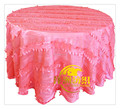 wholesale poly taffeta round petal table cloth
