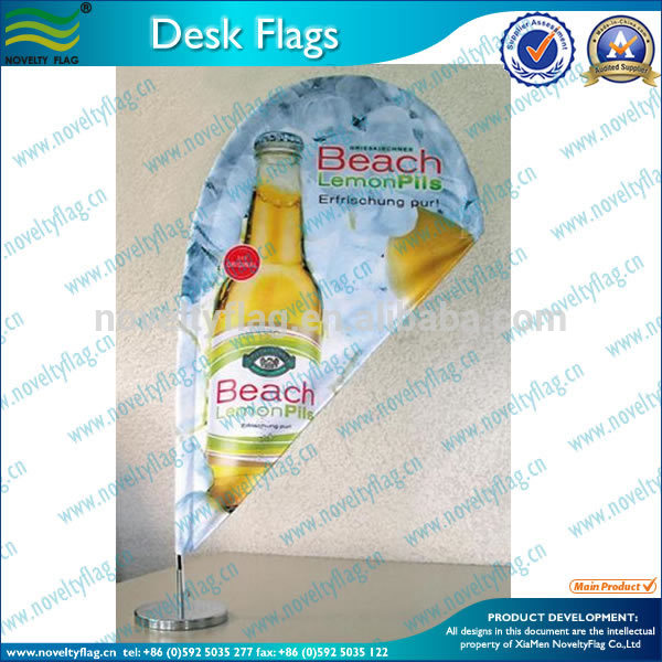 Mini Table Feather Flags With Stand