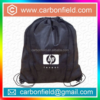 Best quality non woven promotional nylon bag/ drawstring bag