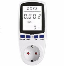 Low Price Stock 16A Digital Electric <strong>Meter</strong> with US/UK/EU power plug