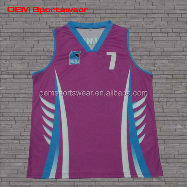 Polyester new design custom basketball jersey