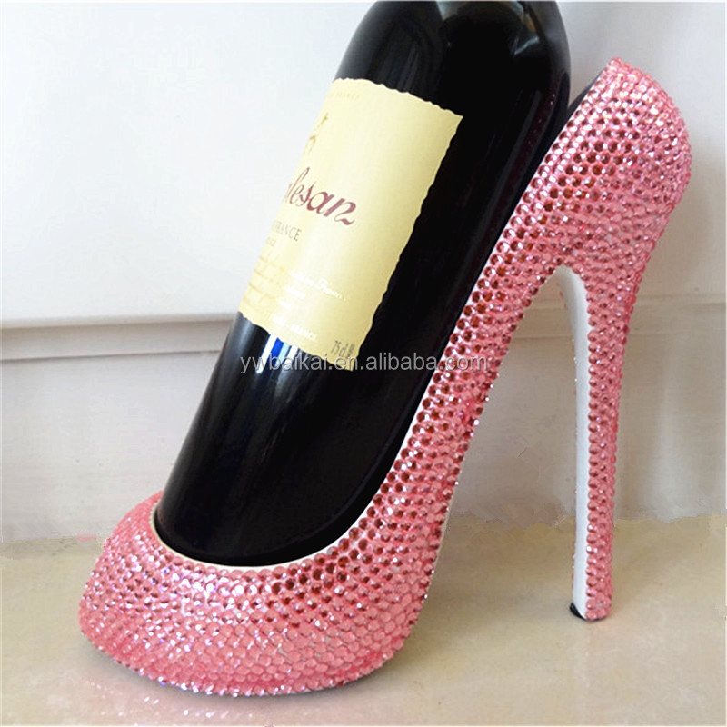 2016 luxury high heel shoes red wine holder