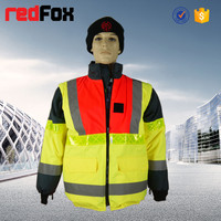 detachable and reversable roadway reflective working safety jacket