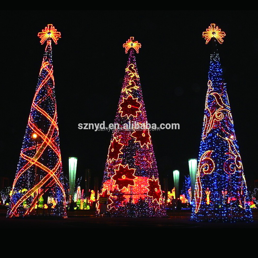 2015 giant christmas tree for outdoor decorations for Led christmas decorations