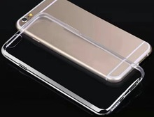 Hot sale high quality slim crystal transparent clear TPU gel protector case for iphone 7 7plus