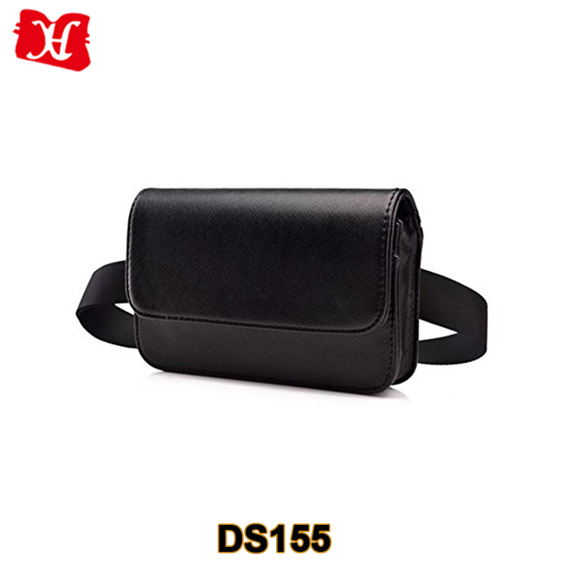 Fashion Ladies Leather Cell Phone Pouch Bag PU leather Fanny Waist Pack Belt Bag