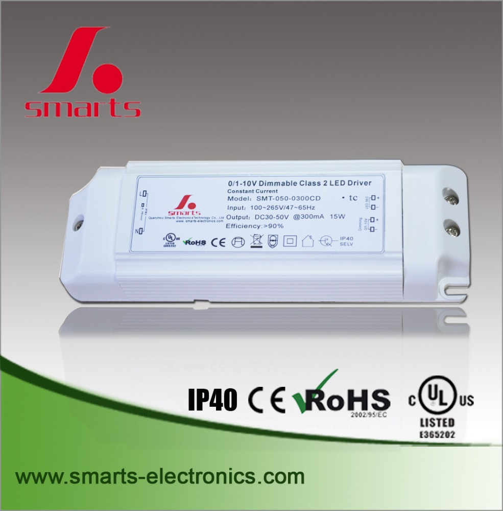 0/1-10v 350ma led dimmable driver