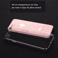 Wholesale Best selling cell phone case accessories clear silicone phone case for iphone 7 8