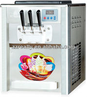Desktop 2+1 flavors soft ice cream machine with CE certification