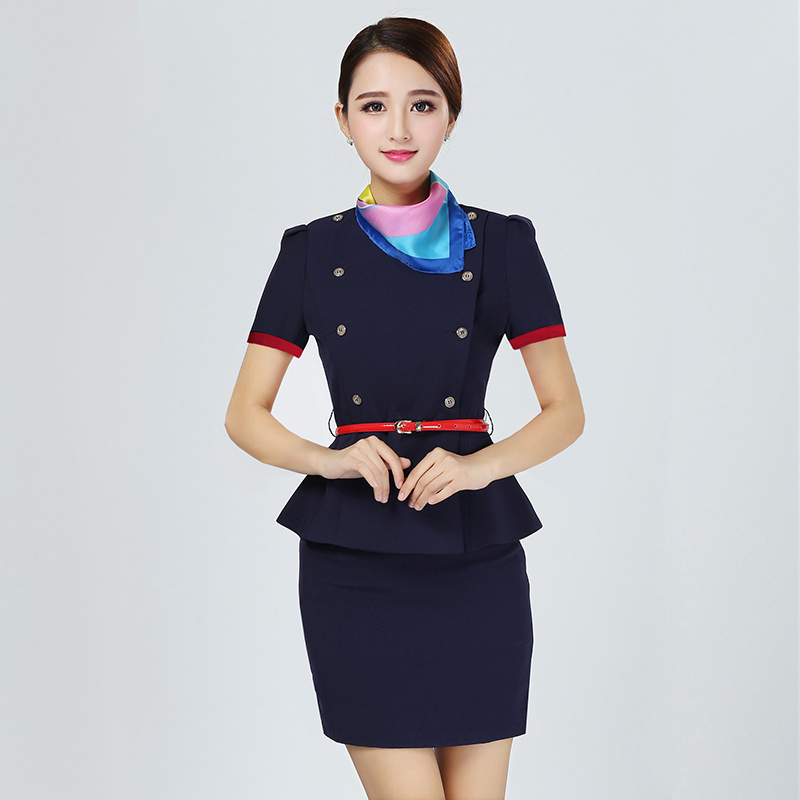 Hostess costume air line uniform Airline stewardess dress airline staff uniform