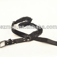 Metal Chain Snake Pattern PU Belt
